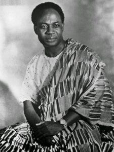 Kwame Nkrumah lideró la independencia de Ghana (antigua colonia británica de Costa de Oro)